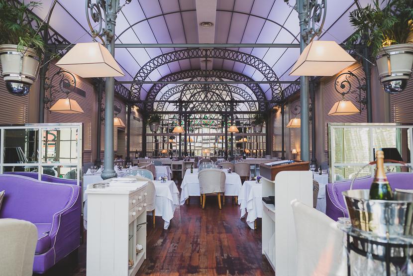 Salon del Restaurante Oriza en Sevilla donde son celebrados los banquetes de Boda
